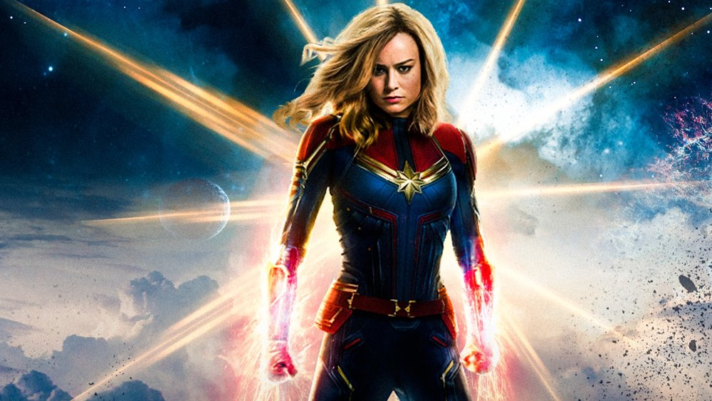 Captain Marvel with glowing hands