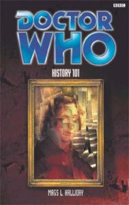 cover art for Doctor Who: History 101. Shows a framed cubist painting of Paul McGann as the eighth Doctor.